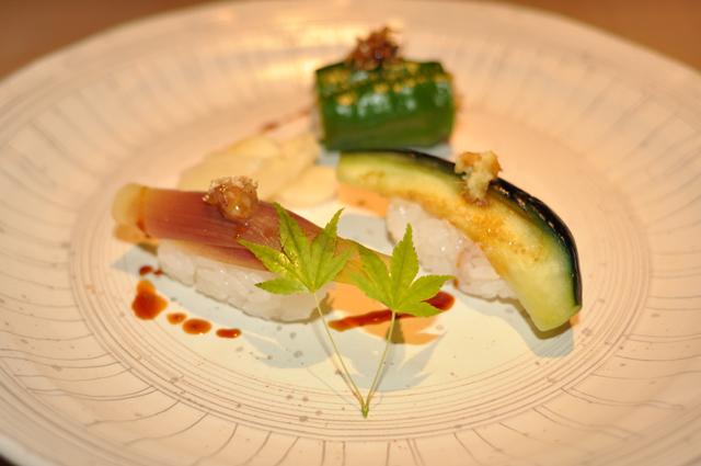 夏野菜のにぎり寿司